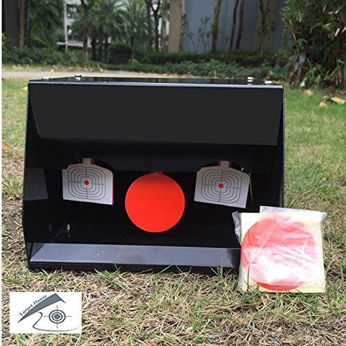 Black Pellet trap-man Silhouette Resettable Target Falle von Sediment