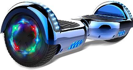 GeekMe 6.5 Zoll Self Balance Scooter Elektroroller mit Bluetooth und Blinkenden Rädern E-Board Hover E-Skateboard UL 2272 Bestätigt