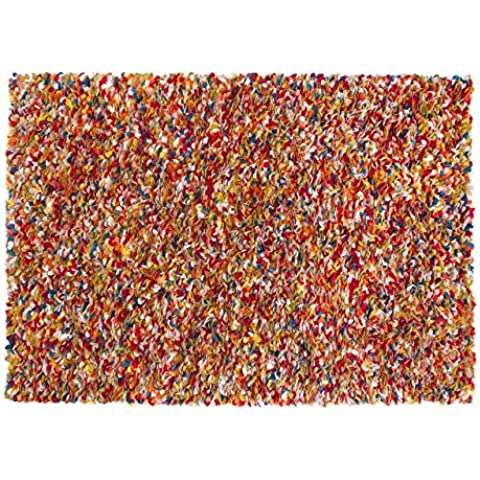 Araav: rectangular: Multi-color Fieltro alfombras de lana procedentes de la India rectangular hecha a mano (150cm x 200cm / 4' 11'' x 6' 6.7'')