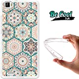 Becool® Fun - Funda Gel Flexible para Cubot X17, Carcasa TPU fabricada con la mejor Silicona, protege y se adapta a la perfección a tu Smartphone y con nuestro exclusivo diseño. Mosaico de rosetones