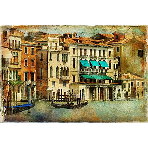 PB Romantic Venice Canvas Painting 6mm Thick MDF Frame 21.1 x 14inch