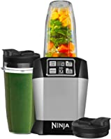 NINJA BL480UK Nutri 1000W Blender with Auto-iQ-BL480UK-Silver, Silver