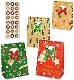 Weihnachtskalender - 24 Geschenktüten / Adventstütchen -