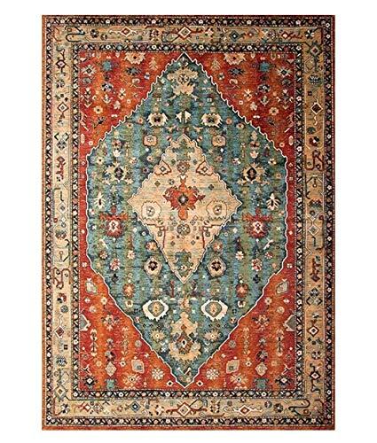 MWPO Marokkanische Kultur Teppich für Wohnzimmer Schlafzimmer Küche Fußmatten Geschenk Rechteck/Quadrat garnieren Teppichbereich waschbar Gummi rutschfeste Teppich Pad 1/4 Zoll dick -
