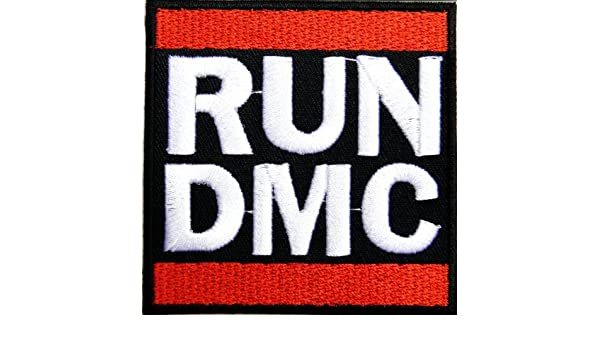 run dmc retro hip hop rap metal music band logo jacket t shirt patch rh amazon co uk