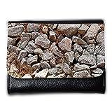 Portemonnaie Geldbörse Brieftasche // M00155809 Steine ??Pebble Baustoffs Fluss // Medium Size Wallet