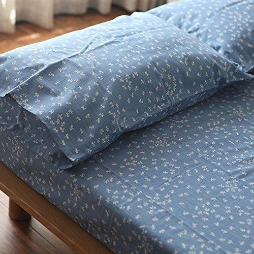 lenzuola di cotone di cotone fiammato/Dragonfly stampe semplici fogli-A (Dragonfly Crema)