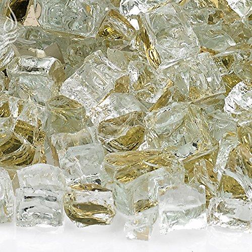 American Fireglass Feuerglas mit Kamin und Feuerschale, 1,27 cm, Kobaltblau 1/2 Inch x 10 Pounds Gold