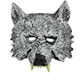 aloiness Creepy Lobo cabeza máscara de látex Teatro Prank Prop Crazy Máscaras traje de Halloween...