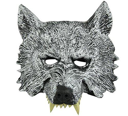 Kentop Halloween Maske Horror Werwolf Monster Kopfmaske Maske Halloween Untoter für Kostüm Cosplay Karneval Verkleidung Fasching