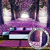 Vlies Fototapete 350x245 cm - 3 Farben zur Auswahl - Top - Tapete - Wandbilder XXL - Wandbild - Bild - Fototapeten - Tapeten - Wandtapete - Wand - Weg Blumen Bäume c-A-0031-a-c