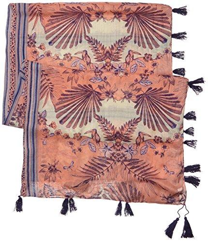 Pieces Pcjilu - Foulard - À fleurs - Femme Multicolore (Desert Flower)