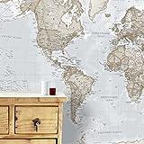 Maps International Giant Weltkarte Wandbild-Wand-Dekoration, 232cm (W) X 158cm (H), Cremefarben