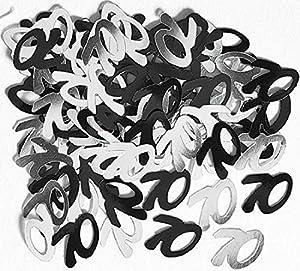 Gifts 4 All Occasions Limited SHATCHI-174 - Confeti para decoración de mesa (14 g, 70 cumpleaños), color negro