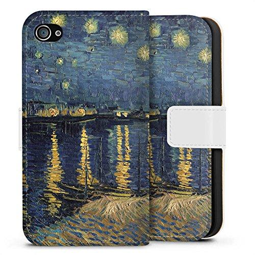 Apple iPhone 6 Silikon Hülle Case Schutzhülle Vincent Van Gogh Gemälde Kunst Sideflip Tasche weiß