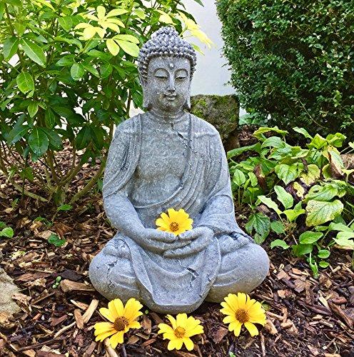 Antikas - Buda meditando estatua piedra - decoración