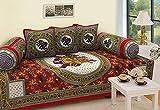 #5: Wideclues 100% Cotton Rajasthani Diwan Set (set of 6PCS) Multicolour