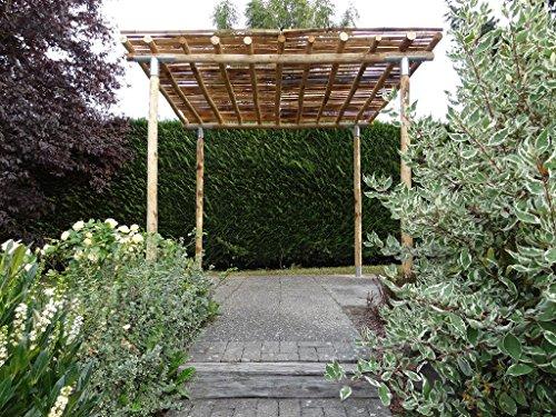 Gartenlaube CAMILLA | Kastanienholz | Bausatz | Laube | Naturgarten | Ökolaube
