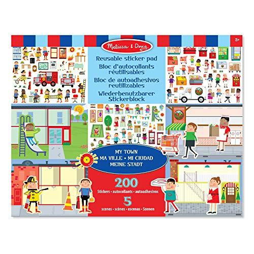 Melissa & Doug Wiederbenutzbarer Stickerblock - Meine Stadt (200 Sticker)