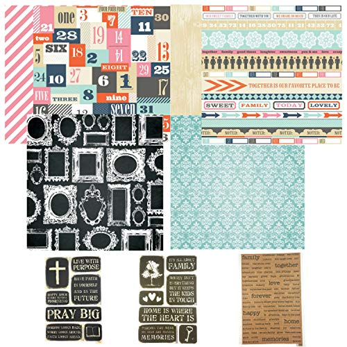 Family Stories Faith & Memories Scrapbook-Kit - Bibel-Tagebuch-Set - Glaube, Familie & inspirierende Scrapbook-Aufkleber - 12 x 12 Designer Papier (Inspirierende Scrapbook-papier)