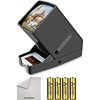35mm Portable LED Negative and Slide Viewer LED Daylight Desktop Slide Viewer 3x Magnification for 35mm Slides(4*AA Batteries Included)