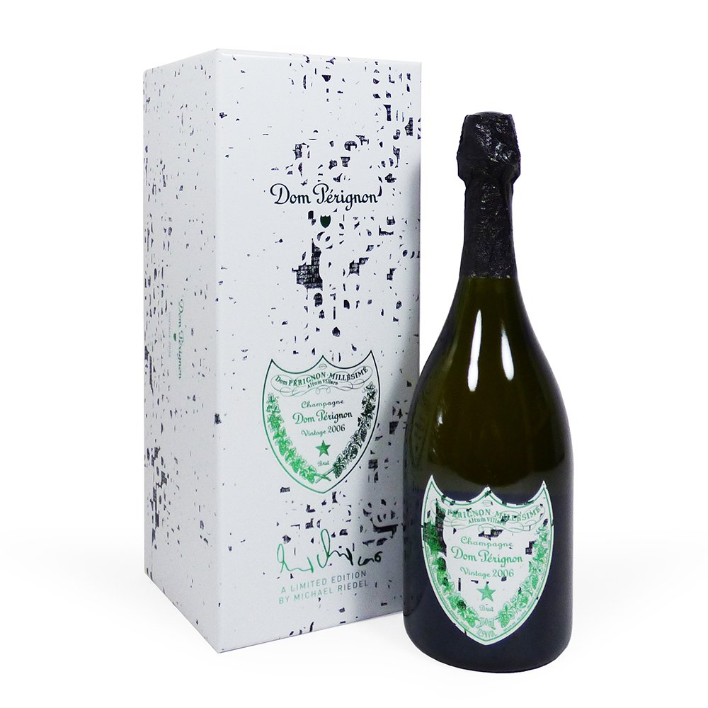 75cl Dom Perignon Champagne Gift Box 'Limited Edition Michael Riedel Design' 2006 Vintage – Gift Ideas for Mum, Dad, Mothers Day, Birthday, Anniversary, Wedding, Business, Corporate Gifts, Fathers Day, Congratulations, Thank you and Promotion
