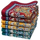 Damen Stoff-Taschentücher - 6 Stücke - Größe 35cm - Modell 'Samarkand'