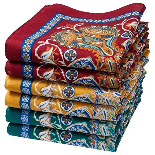 Damen Stoff-Taschentücher - 6 Stücke - Größe 35cm - Modell