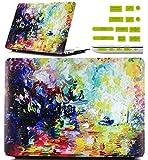 Vandot Apple MacBook Air de 11,6pulgadas (A1370/A1465) protectora Case Prime Thin luz PC plástico duro Cover resistente a rayas absorción de golpes modelo de portátil modelo teléfono Protección Mate taza bolsa de casos + 12pcs Universal Silicona antipolvo Plugs–Colorful de pintura al óleo