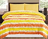 RAMPAGE 5-Piece Comforter Set, Queen, Tie-Dye Orange