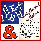 Patchwork Cutters–Große Zahl und Buchstabe Ausstechformen–Komplette Sets–Sugarcraft Tortendekoration, Alphabet A-Z (Includes &)