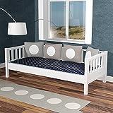 lounge-zone Daybed Tagesbett Sofabett THORSTAL weiß 90x200cm umbaubar Zum Basisbett 12756