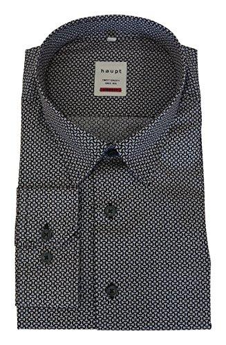 Haupt -  Camicia classiche  - Classico  - Maniche lunghe  - Uomo grau/schwarz gemustert