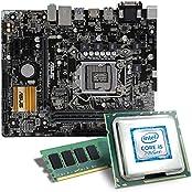Intel Core i5-7400 / ASUS H110M-A/M.2 / 8GB Mainboard Bundle | CSL PC Aufrüstkit | Intel Core i5-7400 4x 3000 MHz, 8GB RAM Intel HD Graphics 630, LAN, 7.1 Sound, USB 3.1 | Aufrüstset | PC Tuning Kit