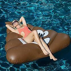 Gigante premium Piscina flotante – Verano Al aire libre Fiesta Flotante, Emoji, balsa – Inflable Flotado playa Juguetes para Adultos y niños con Diente dulce - Lovin