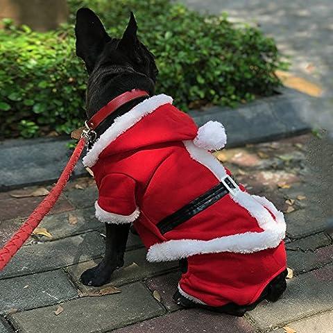 Pet Leso® Puppy Dog Costume Manteau De Noël De chien De Santa Costume Outfit Avec Une Marque LED Clignotant Dog Gratuit -M