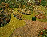 Kunst für Alle Reproduction/Poster: Vincent Van Gogh Garten in Auvers - Affiche, Reproduction Artistique de Haute qualité, 90x70 cm...