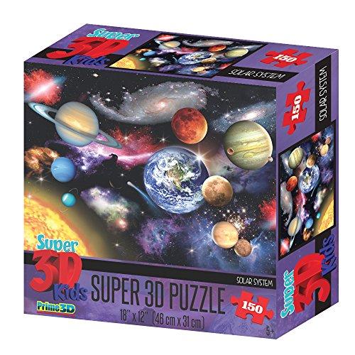 DAM- Howard Robinson 3DPuzzles 3DDAMPrime 3D Puzzle 46x31cm-150pcs: Solar System, in Box 19.6x19.6x6.35cm, 5+, Multicolor (150)