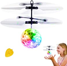 RC Fliegender Ball, IGOGO Fliegender Flying Ball Spielzeug Infrarot-Induktions-Hubschrauber, Drohne mit Bunt Leuchtendem LED-Licht und Fernbedienung für Kinder, Geschenke für Jungen und Mädchen