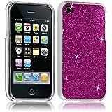 Seluxion - Housse Etui Coque Rigide pour Apple iPhone 3G/3GS Style Paillette Couleur Rose Fushia