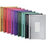 Enveloppes postales Bubble métallisé rembourré 100 Pack de 1 couleur à partir de couleurs variées montrées - Taille intérieur