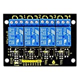 KEYESTUDIO Module Relais 4 canaux 5V pour Arduino Uno R3 Mega 2560 / Raspberry Pi/Avr / STM 32