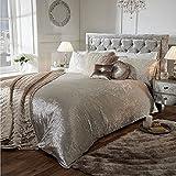 Best Simple Luxury duvet cover - Luxury Crushed Velvet Duvet Quilt Cover Bedroom Bedding Review