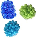 300 Bälle für Bällebad gemischt mix mit türkis, hellgrün und blau