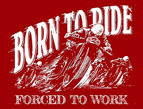 Vintage Style Born to Ride Motorbike Biker Metal Sign Wall Plaque Gift 15X20CM