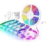 Govee RGBIC LED-strip 5m, LED-strip sync met muziek, bestuurbaar via app, voor feest, thuis, slaapkamer, tv, keukendecoratie
