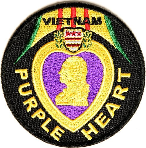 Vietnam Purple Heart Patch - By Ivamis Trading - 3x3 inch by Ivamis Trading (Purple Heart Patch)