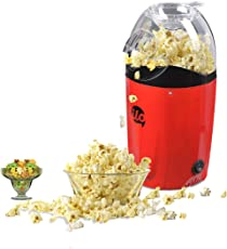 BMS Lifestyle ilo-101 Hot Air Popcorn Popper Electric Machine Snack Maker, with Measuring Cup and Removable Lid