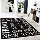 teppich new york schrift ny nyc new york city. Black Bedroom Furniture Sets. Home Design Ideas