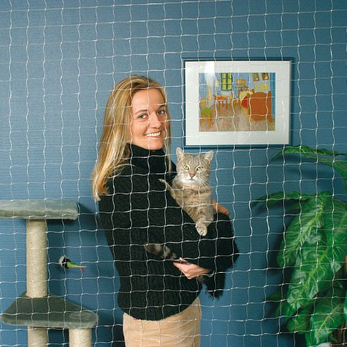 Trixie 44323 Schutznetz, 4 × 3 m, transparent - 2